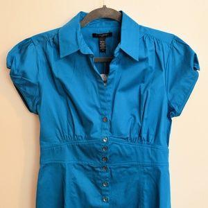 Banana Republic turquoise short sleeve blouse